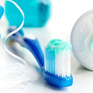 Toothbrush, Floss, Toothpaste